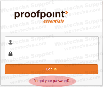Proofpoint forgot password